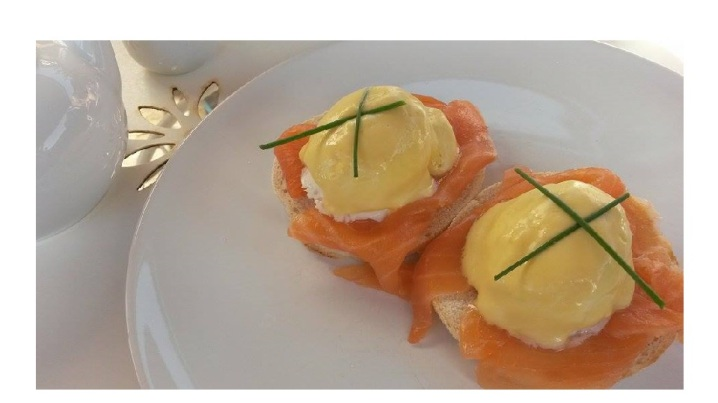 Eggs Royale Lavender House Cafe
