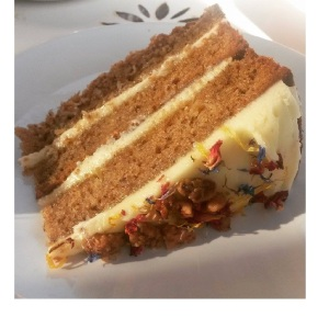 Hummingbird Cake at The Lavender House Cafe
